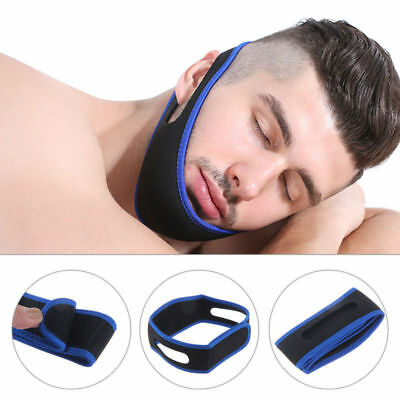 Anti Snore Stop Snoring Sleep Apnea Belt Chin Strap Jaw Support solution COOB