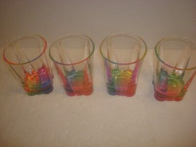 "English Garden- Merritt- Acrylic ""Crystal"" 14 oz Rainbow Tumbler  - Set of 4-New"