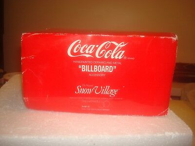 DEPT 56 Snow Village -  Coca-Cola Brand Billboard - #54810