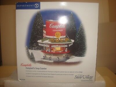 DEPT 56 Snow Village -  Campbell's Soup Counter - #56.55309