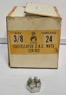 "Dorman # 220-012 FINE 3/8""-24 Castellated SAE Hex Castle Nut - 1 NUT ONLY"