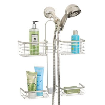 Mdesign Hanging Shower Caddy For Hand Held Shower Head And Hose