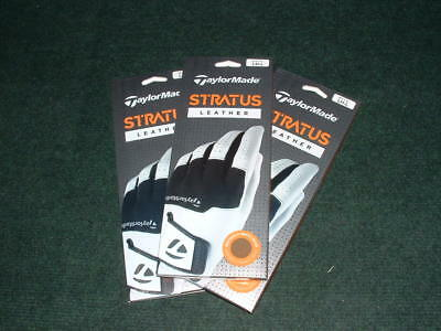 3-Pack TaylorMade 2018 Stratus All  Leather Gloves. L/H Pick your Size