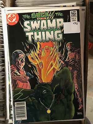 SAGA OF THE SWAMP THING #9 VF/NM 1t Print CANADIAN PRICE VARIANT