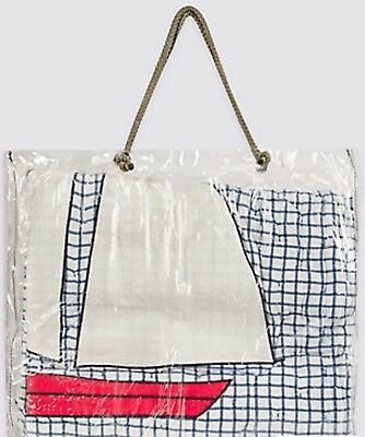 NEW MARKS & SPENCER APPLIQUÉ NAUTICAL SAILING BOAT COVERLET 2.6 Tog