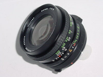 Olympus OM Fit Vivitar 24mm F2.8 Auto Wide Angle Manual Focus Lens