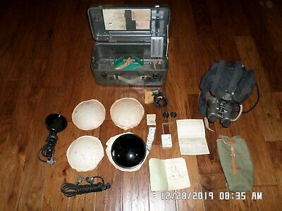 Russian Military Tankers Helmet Night Vision Infra-Red Goggles Complete Box Set