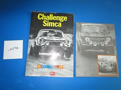 N°11592 / bulletin challenge SIMCA et catalogue SIMCA Compétition  Shell