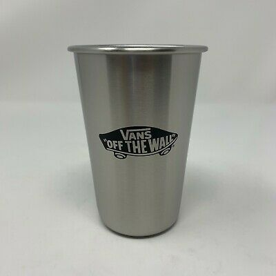 Vans Off The Wall Logo Collectible Pint Steel Glass Glass
