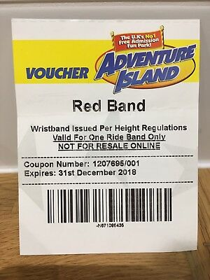 Adventure Island Red Band Voucher - £15(Southend-on-Sea)