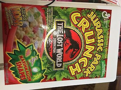JURASSIC PARK CRUNCH GM Cereal Box 1997 NEW UNOPENED RARE