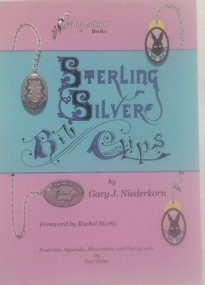 STERLING SILVER BIB CLIPS, a book for the baby, infant & children's collectors