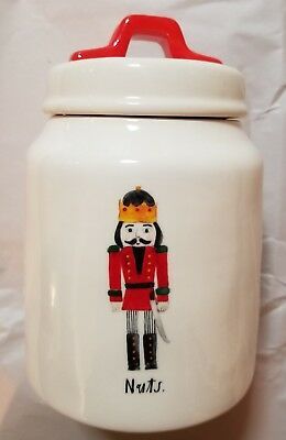 New Rae Dunn Christmas Nuts Nutcracker Holiday Canister