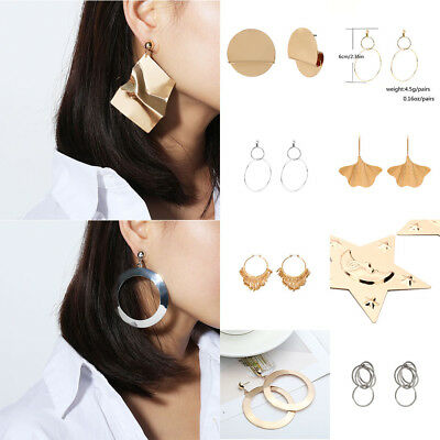 Fashion Women Statement Boho Gold Plated Alloy Geometric Big Dangle Drop Earring