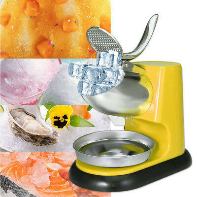 300W Electric Ice Crusher Shaver Commercial Machine Snow Cone Maker 95KG/H