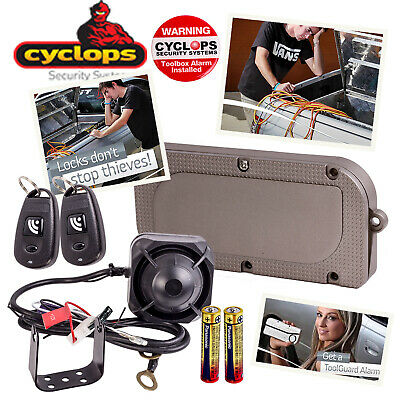 Cyclops Toolguard Toolbox Truck Lid Security Protect Alarm + Wireless Remotes