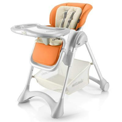 MiClassic Deluxe High Chair Full Function with Leatherette Pad and Soft Cushion