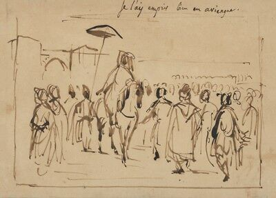 Sultan of Morocco and His Entourage by Eugene Delacroix Moroccan Morocco Poster