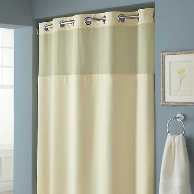 HOOKLESSR HANGS IN SecondsTM Waffle Fabric Shower Curtain With