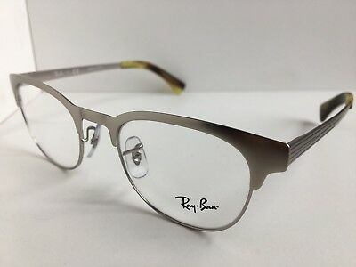 7beaabe50b New Ray-Ban RB 6317 RB6317 2835 49mm Silver Clubmaster Eyeglasses Frame