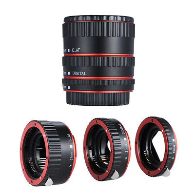 Metal Auto Focus AF Macro Extension Tube Lens Adapter Ring for Canon EOS EF EF-S