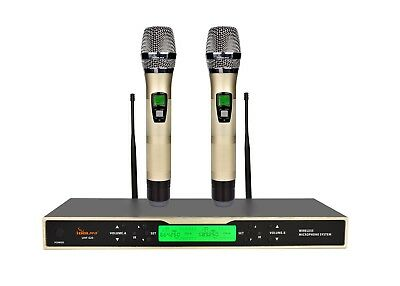 IDOLPRO UHF-620 Dual Wireless Karaoke Microphones With New Digital Technology