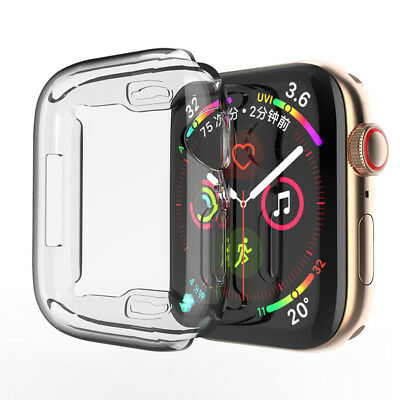 For Apple Watch Series 4 40mm & 44mm Silicone Soft Bumper Protective Case Cover