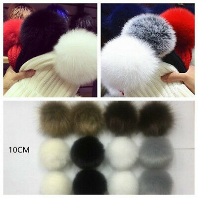12pc Faux Raccoon Fake Fur Hair Huge Ball Fluffy Pompom Pendant F Hat Bag Shoses