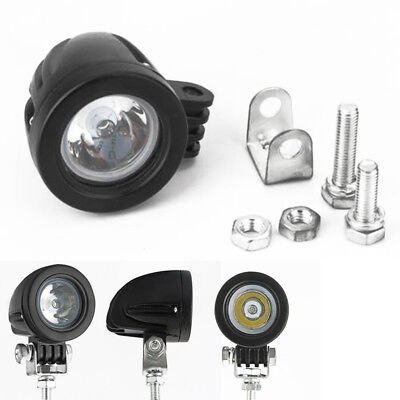 """Pair 2"""" Motorcycle 4WD 10W LED Work Light Spot Offroad Driving Fog Lamp 12-48V"""