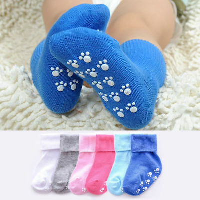 1 pair Anti-slip Winter Toddler Baby Boy Girl Stretchy Thick Cotton Socks