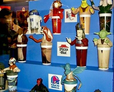 Star Wars™ STORE EXCLUSIVE Retail Premiums KFC TACO BELL PIZZA HUT Classic Cups
