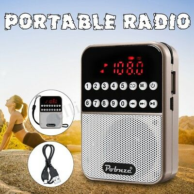 Mini Portable LCD Digital FM Radio Speaker USB SD TF Card Mp3 Speaker Player FR