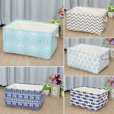 Collapsible Cloth Storage Bin Laundry Basket Toy Box Organizer for Closet