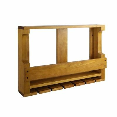 Wine Rack Timber Wall Mounted Bottles Wood Storage Display Organise Natural @TOP