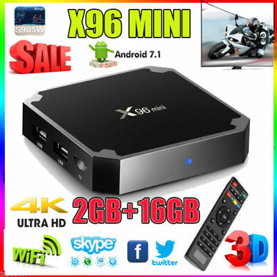 X96 Mini 1080P WiFi 4K Smart TV BOX 2GB+16GB Android 7.1 Quad Core Media Player
