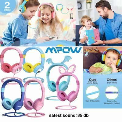 Mpow Kids safe Over-ear Headphones Headset Xmas Gift for Baby Childs Boys Girls