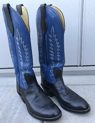 c53961d29ba MEN'S LUCCHESE 2000 Black Exotic Smooth Ostrich Roper Cowboy Western ...