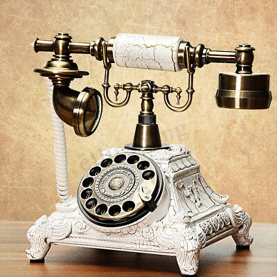 Noble Vintage Antique Handset Phone Old European Style Rotary Dial Telephone