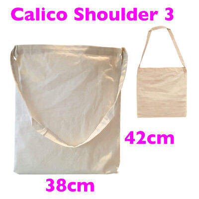 A3 Calico Bag Library Bulk Tote Calico Bags S3 H38*W31cm,145gsm, lots 1-200 bags