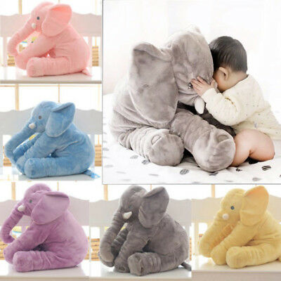 "24"" Large Infant Plush long nose Elephant Soft Stuffed Doll Baby Pillow Toy"