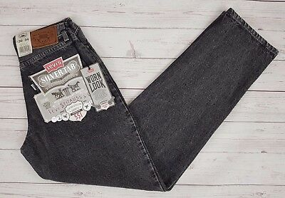 Levi Strauss & Co Vintage 551 Silver Tab Mens Loose Faded Black Jeans W28 L34