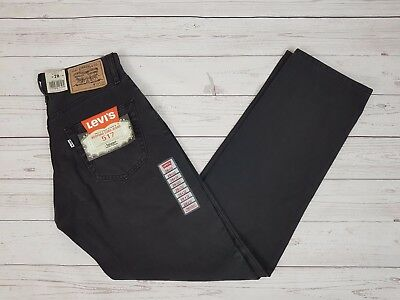 Levi Strauss & Co Vintage Mens 517 Straight Bedford Cord Black Jeans W28 L32