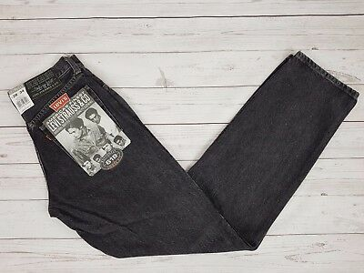 Levi Strauss & Co Vintage 618 Mens Loose Fit Button Fly Black Grey Jeans W28 L34