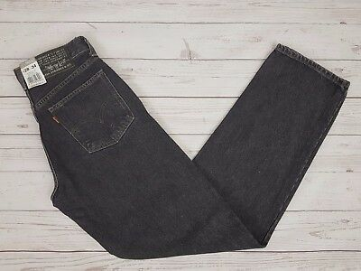 Levi Strauss & Co Vintage 618 Mens Faded Black Loose Jeans Button Fly W28 L34