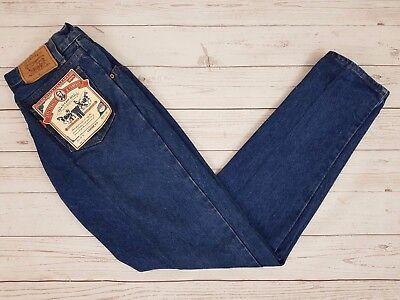 Levi Strauss & Co Vintage 650 Mens Blue Loose Relaxed Fit Zip Fly Jeans W28 L32