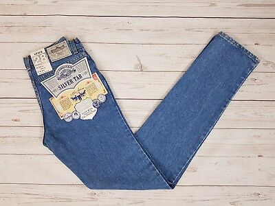 Levi Strauss & Co Vintage Mens Blue 531 Silver Tab 28 Tight Fit Jeans W28 L33