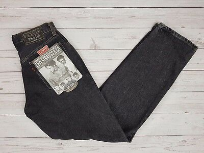 Levi Strauss & Co Vintage 618 Black Loose Fit Jeans Button Fly W27 L33 Brand New