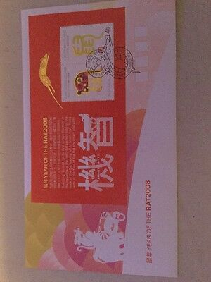 2008 Year Of The Rat Christmas Island First Day Cover