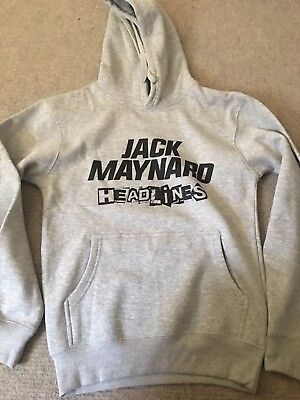 Jack Maynard Replica Tour Hoodie Size Small Grey - Free Uk P+P