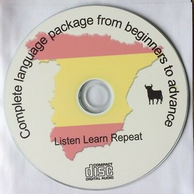 Learn to speak Spanish Audio CD - Complete Spanish Language Course FREE P&P